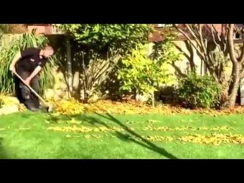 Cleaning Leaves from Artificial Grass