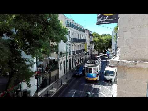 Lisboa tram 12E - Rua de Sao Tome timelapse