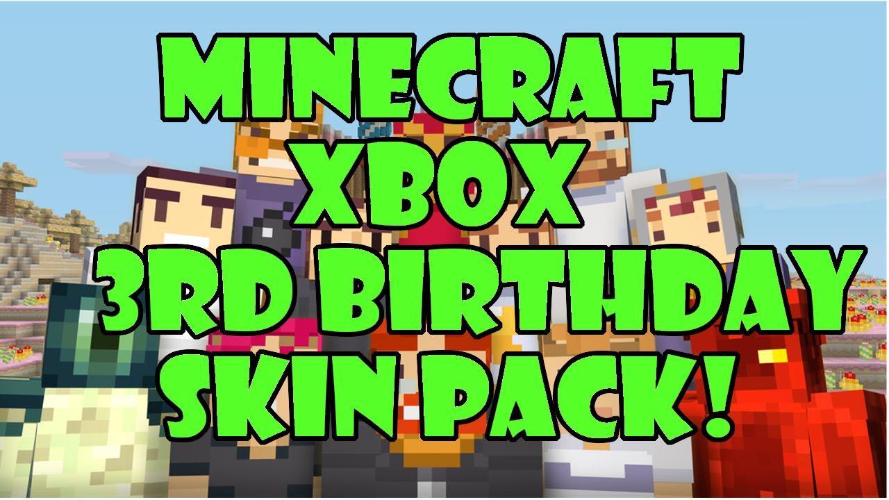 Birthday skin pack xbox one