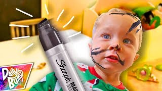 KIDS PERMANENT MARKER FACE ART!