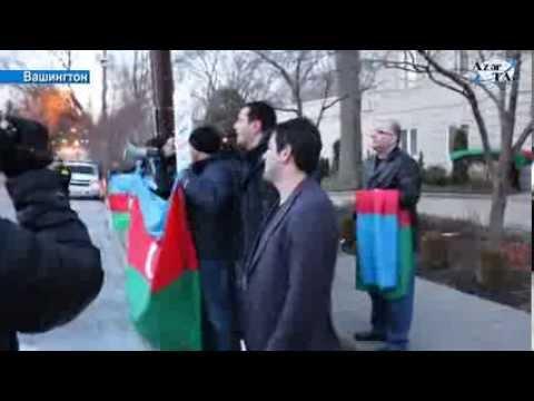 Состоялся контр-протест армян перед посольством Азербайджанской Республики в Вашингтоне