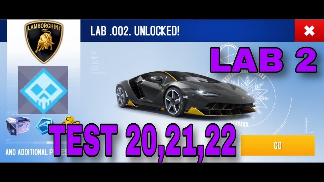 Asphalt 8 Lamborghini Centenario R D Lab 2 Test 20 21 22 Youtube