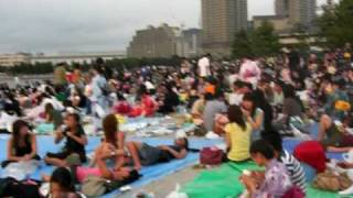 Odaiba Island (Tokyo's beach) in a Sunday evening...
