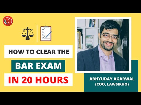 How to clear the Bar Exam in twenty hours