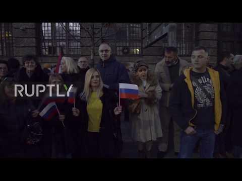 Serbia: Putin given hero's welcome in Belgrade