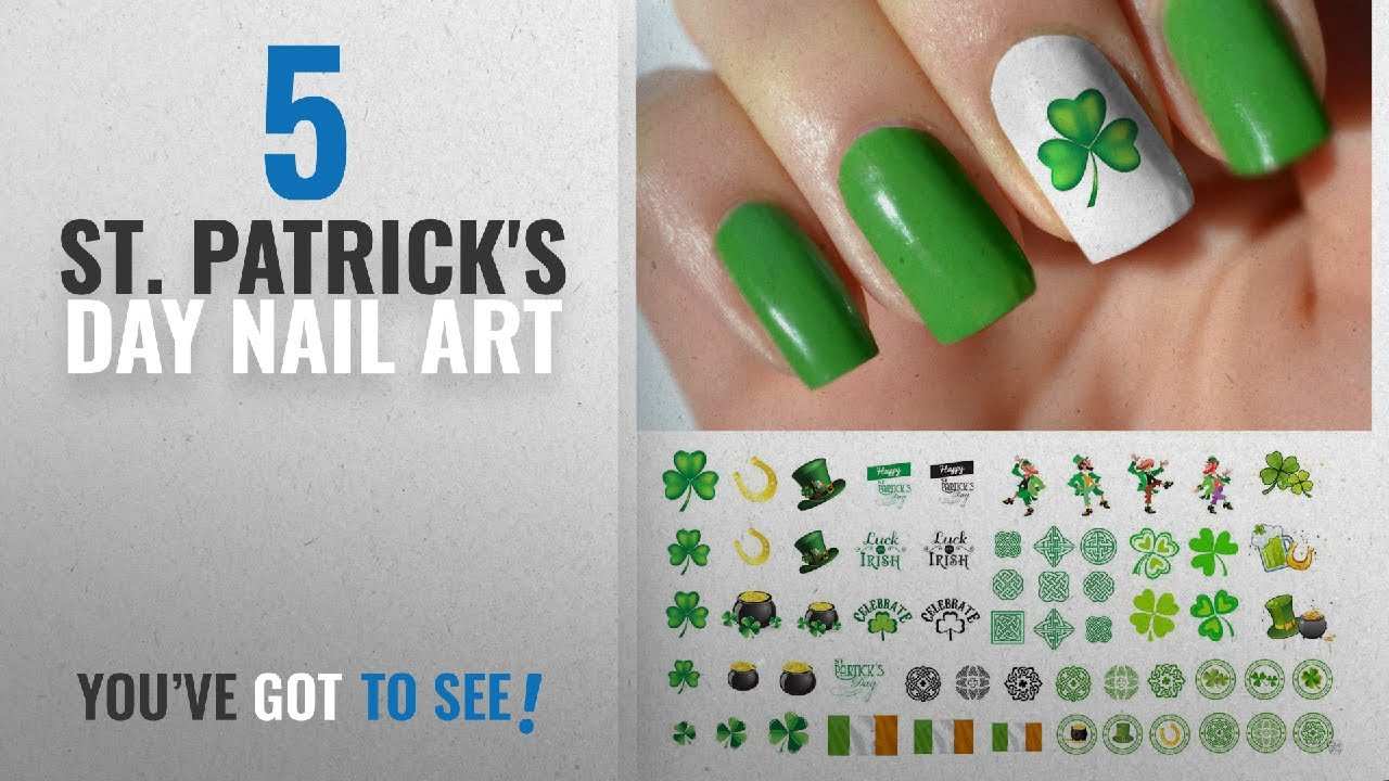 Top 10 St. Patrick\'S Day Nail Art [2018] | New & Popular - YouTube