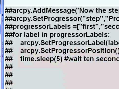 Week 11: 5) Script Tool Progressor