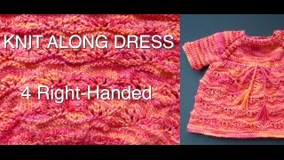 Knitted Baby Lacy Dress (4 Righties)