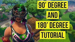 How to do 90 Degree and 180 Degree on Fortnite!