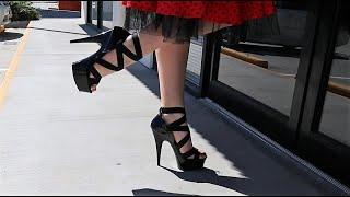 """PLEASER Delight-657 6/"""" Heel Sandals"""