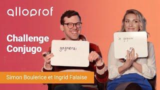 Simon Boulerice et Ingrid Falaise s'affrontent au Challenge Conjugo