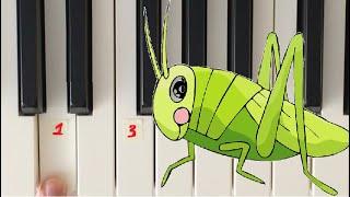 Как играть КУЗНЕЧКА🦗 на пианино 🎹(в траве сидел кузнечик)