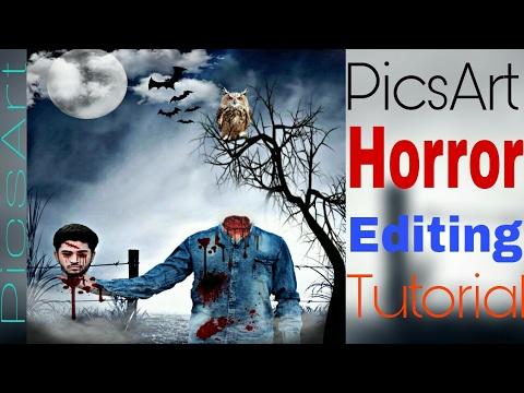 Picsart editing tutorials | photo maniupulation | picsart horror.