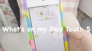 One of Floral Sophia's most viewed videos: ♡What's on my iPod Touch 5// Spring 2016¦ Floral Sophia♡