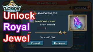 Unlock Royal Jewel. Which is best? + Live Zeroing - 王國紀元 Lords Mobile