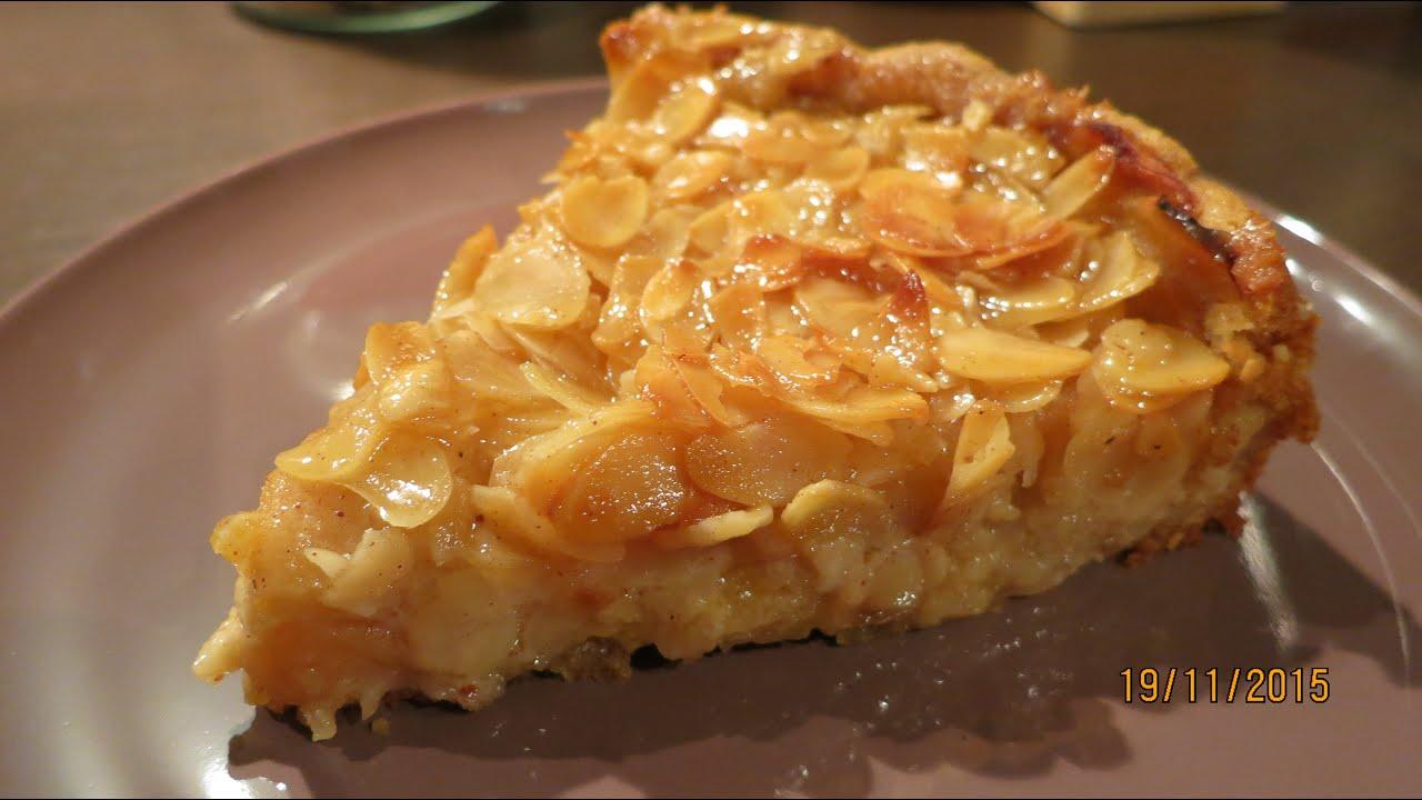 Apfelkuchen mit sahne und mandeln