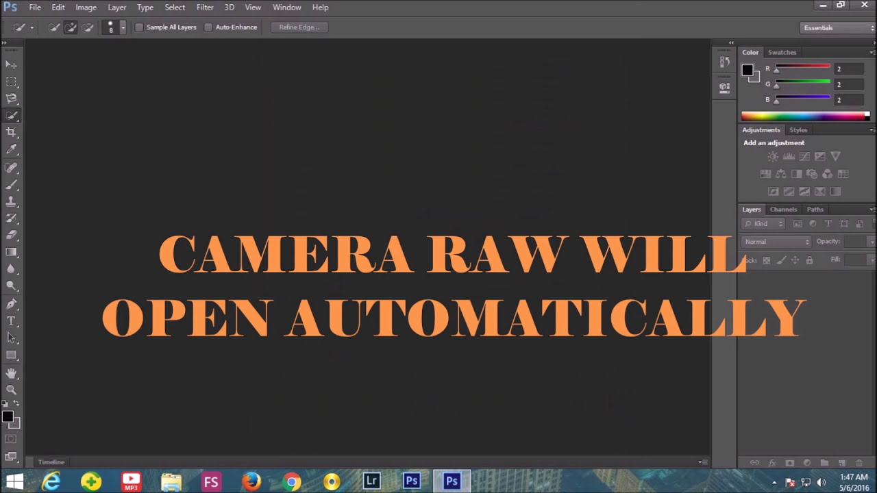 Photoshop 6 How To Install Camera Raw Filter To Adobe Photoshop Cs6