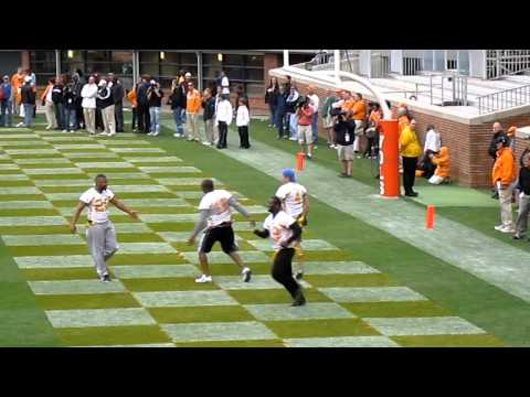 2011 Vol Legends Flag Football: Jeff Hall Draws Double Team to Allow Joey Kent TD