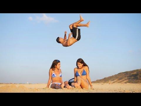Tricks & Flips at the Beach!!
