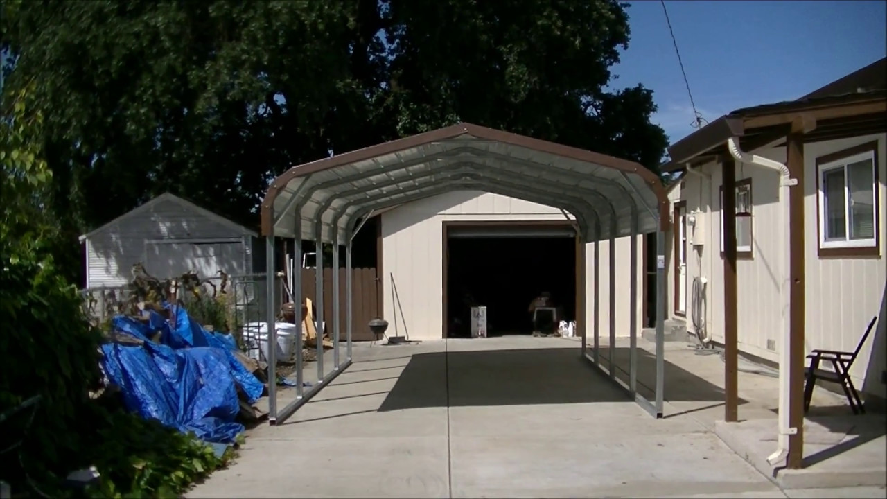how to install steel carport in 45 minutes youtube