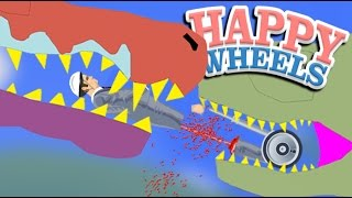 Eaten By T.REX and SPINOSAURUS!!   Happy Wheels