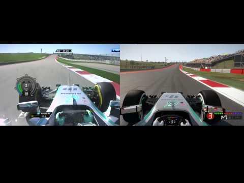 F1 2014 vs real life comparison @ COTA, Texas