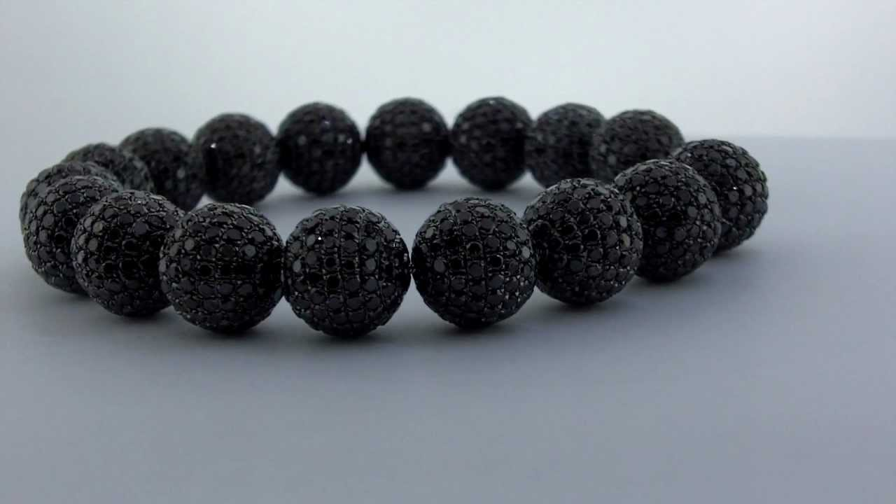 Black Shamballa Real Diamonds Bracelet Disco Ball Diamond You