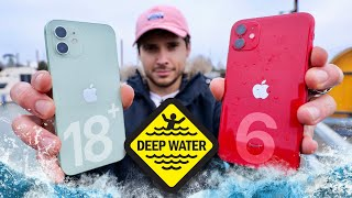 iPhone 12 vs 11 DEEP Water Test! 18 FT Rating Legit?