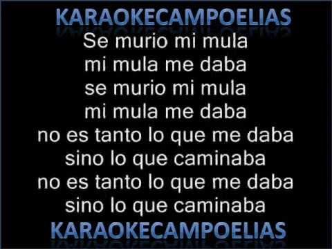 Karaoke Mi mula baya Los Blanco