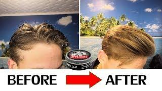 Мужские причёски /укладка волос ЗА 3 МИНУТЫ | Обзор  глины для волос Uppercut Matt Clay