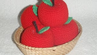 Яблочко! Вязание крючком!  Knitted apple.