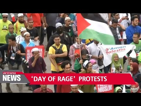 Protests breakout throughout world against Trump's Jerusalem move
