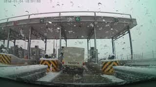 Χαλκιδική προς Δράμα με χιονόπτωση 4/1/2019