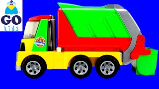 Wheels On The Bus - Nursery Rhyme Trucks - Toy Garbage Truck - GoKids