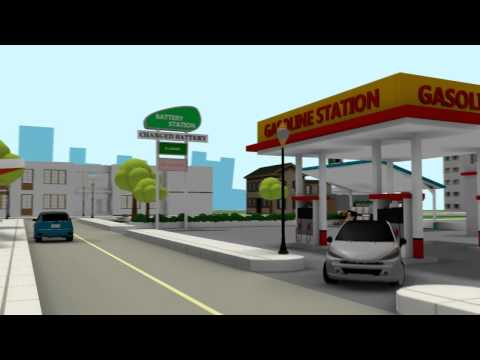 New idea for Electric Car Battery change Animation