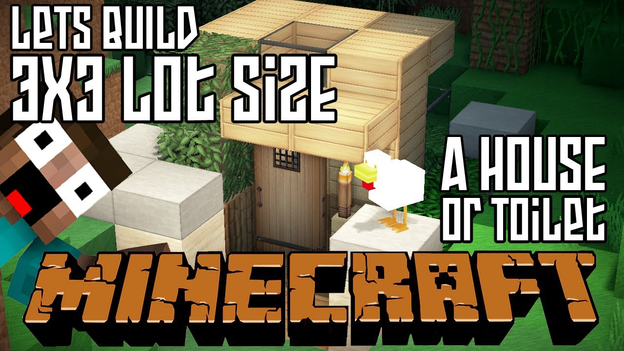 Minecraft Lets Build HD House or Outdoor Toilet 3x3 Lot YouTube