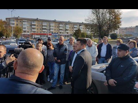 Встреча главы ГО г.Нефтекамск Ратмира Мавлиева  с таксистами