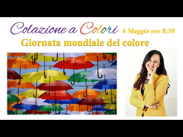 Colazione a colori con Samya- Formazione a colori -  6 Maggio 2021