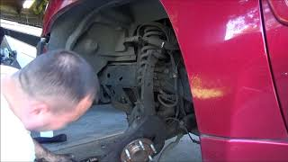 GMC Envoy trailblazer control upper / lower arms replacement and press upper / lower ball joints