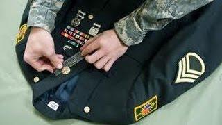 Армия США-6. Парадная форма американского солдата - нашивки, шевроны, орденские планки
