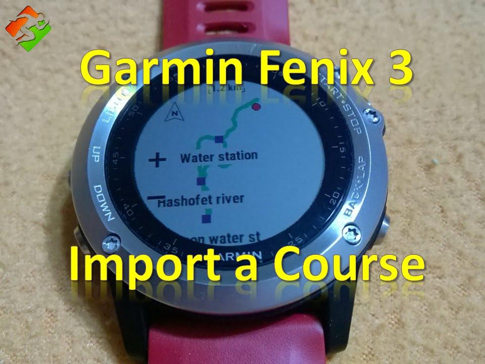 trace gpx fenix 3