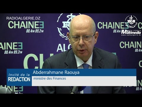 Abderrahmane Raouya ministre des Finances