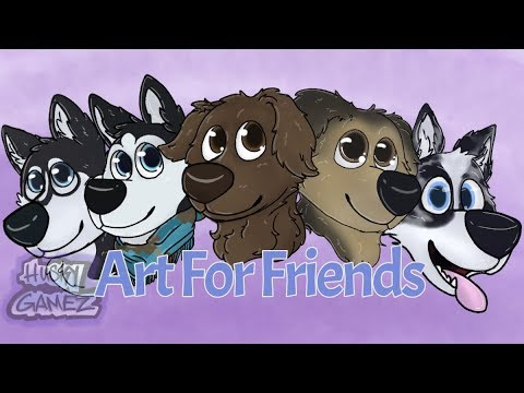 Dog Portrait Drawings- cartoons | Art for Friends #2