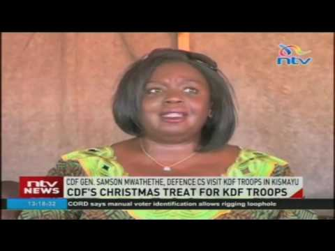 CDF's christmas treat for KDF troops