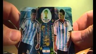 Opening 10 Panini Adrenalyn XL World Cup 2014 Booster Packs!(Double Trouble PULL)