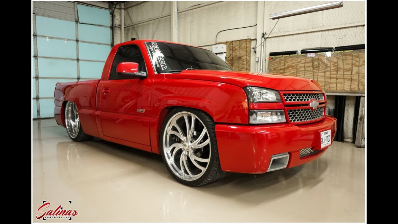silverado ss clone dropped on 26x12 intros dallas texas truck youtube. Black Bedroom Furniture Sets. Home Design Ideas