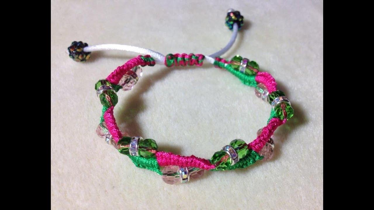 Tutorial Beaded Macrame Bracelet Video 32 Youtube