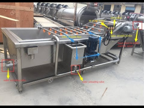 Industrial Vegetable And Fruit Washing Machine|Date Palm Cleaning Equipment