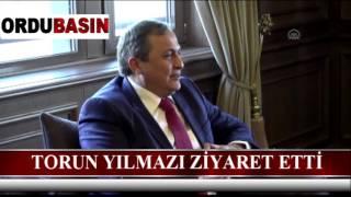 CHP Genel Başkan Yardımcısı Seyit Torun, Ordu Büyükşehir Belediye Başkanı Enver Yılmaz'ı makam