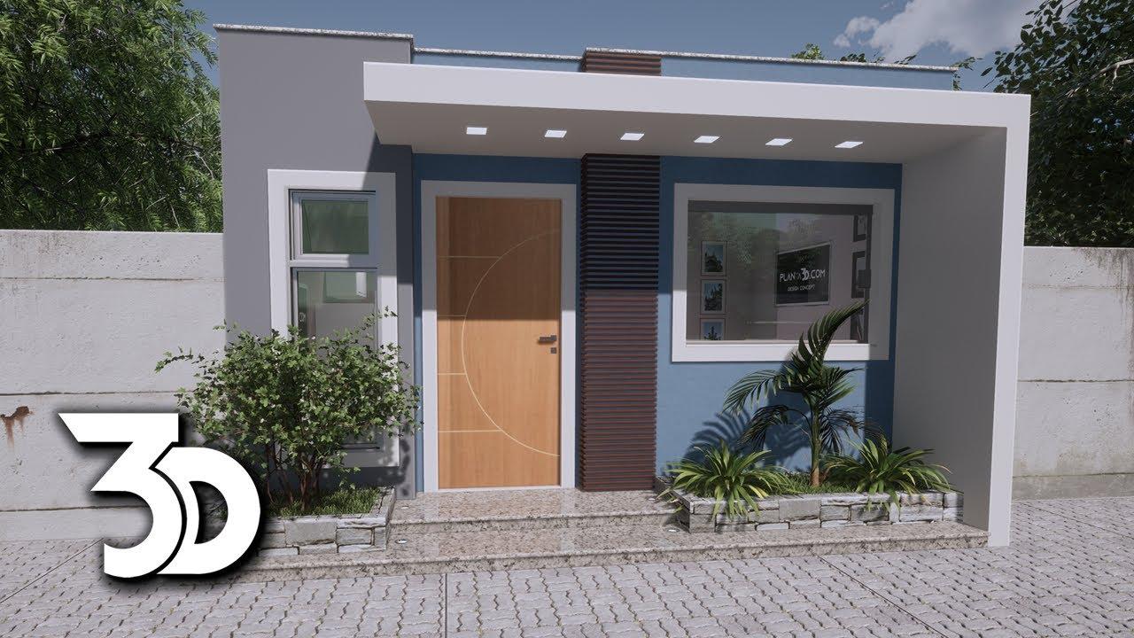 KITNET modular tipo casinha 5x5 ajustável em diversos tamanhos de terrenos